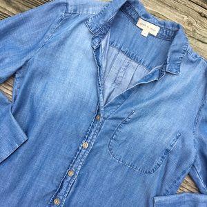 Cloth & Stone Denim Button Down Top